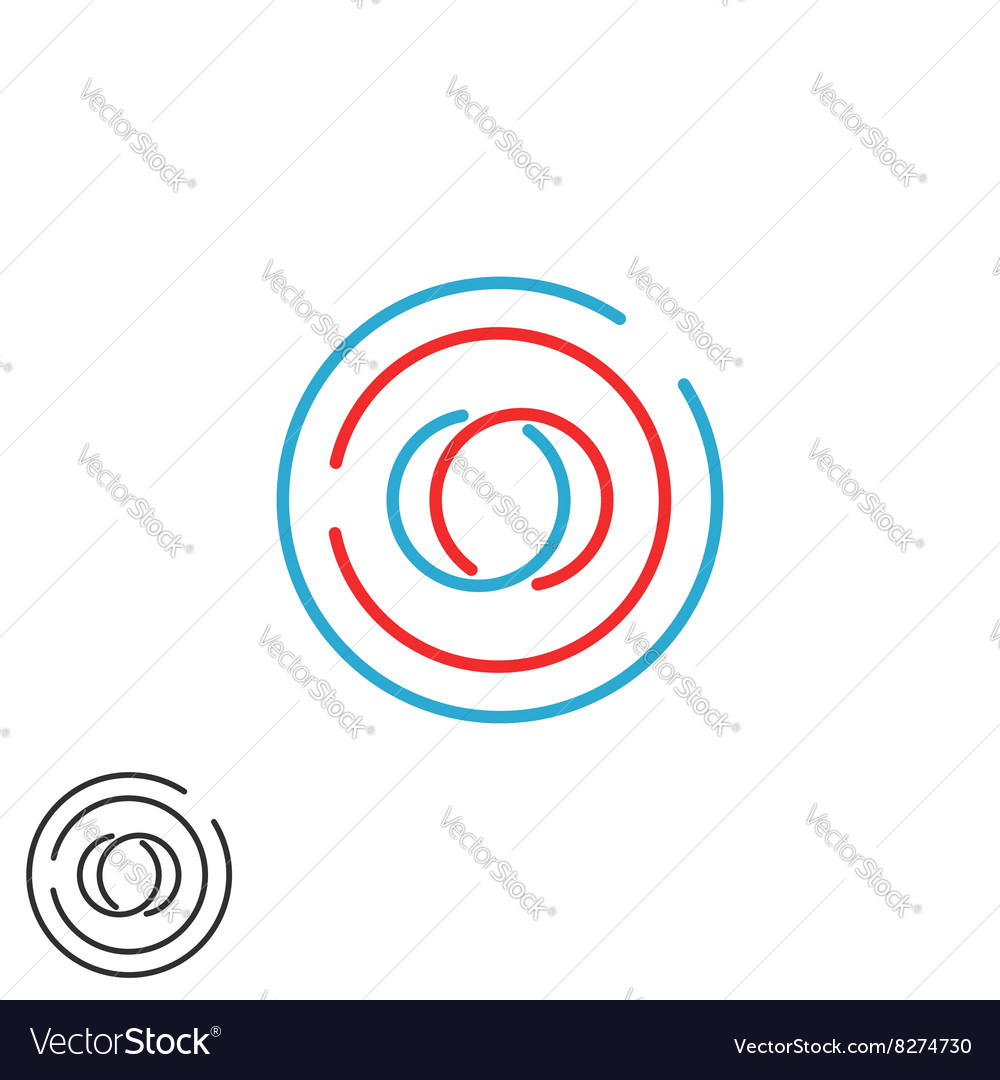 Initials OO monogram weave letters O O logo