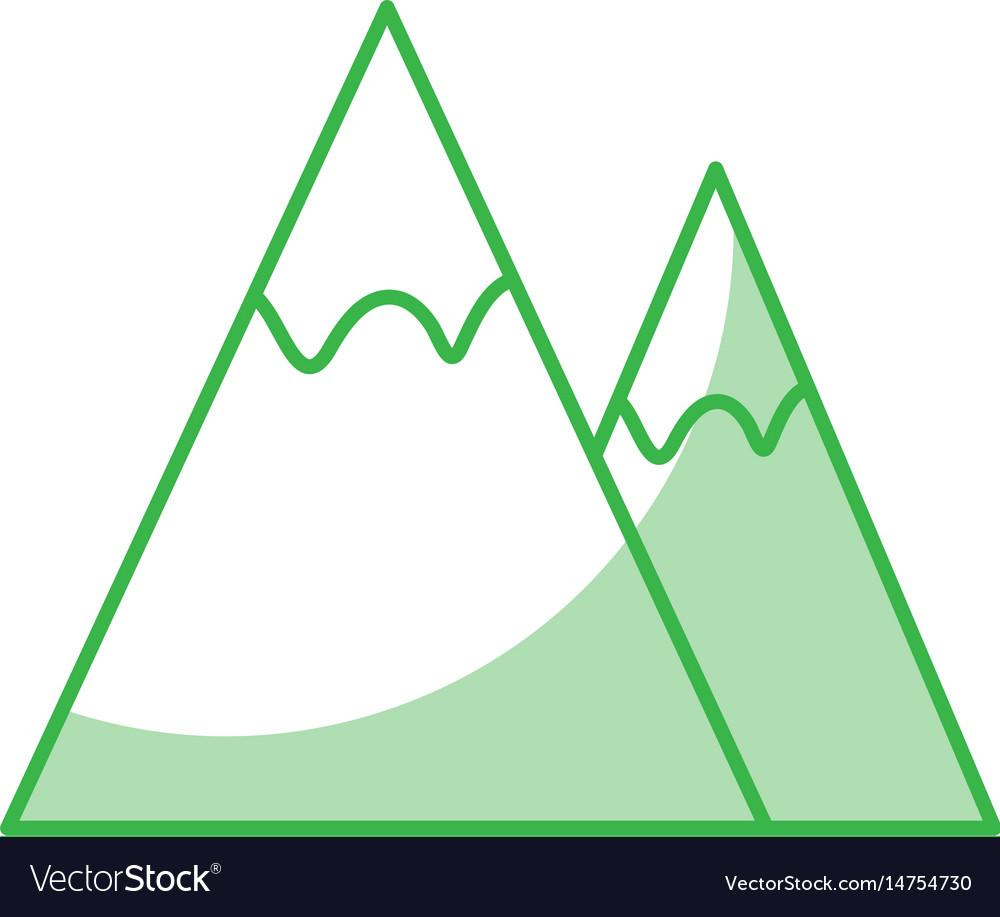 Mountains landscape symbol
