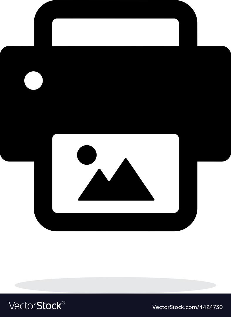 Photo print icon on white background