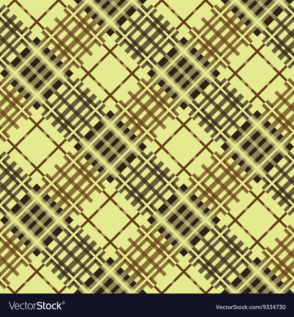 Seamless tartan pattern Diagonal brown palette
