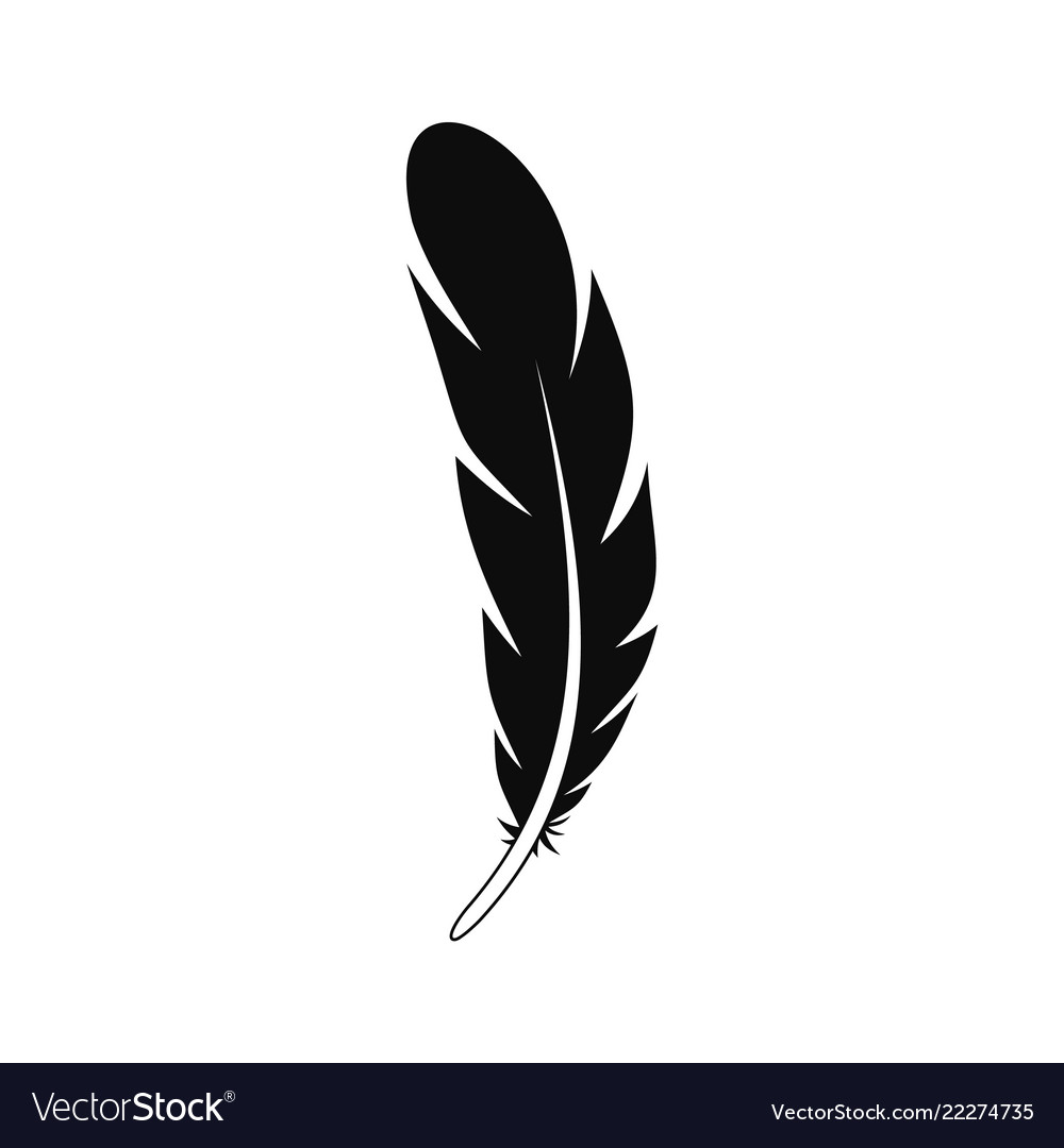 Aztec feather icon simple style