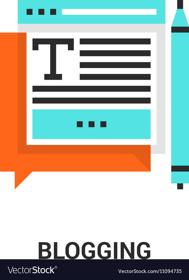 Blogging icon concept