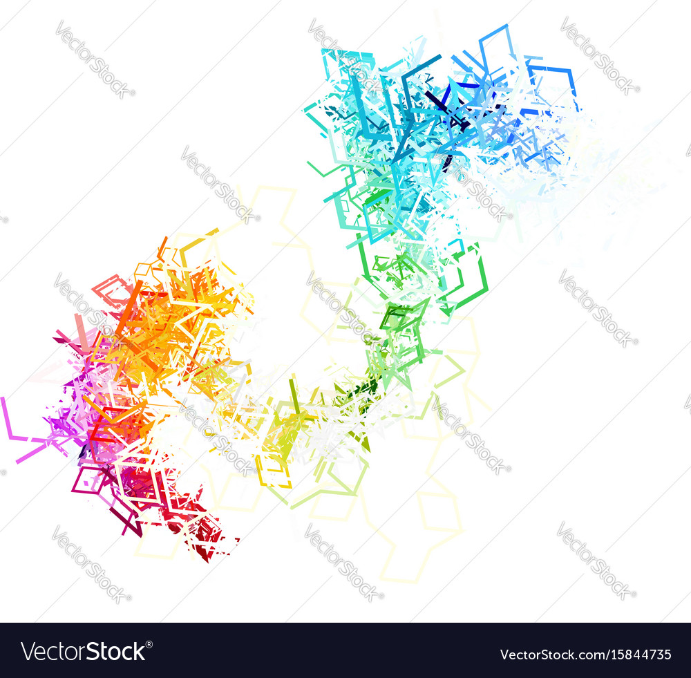 Colorful lines on white background vector image