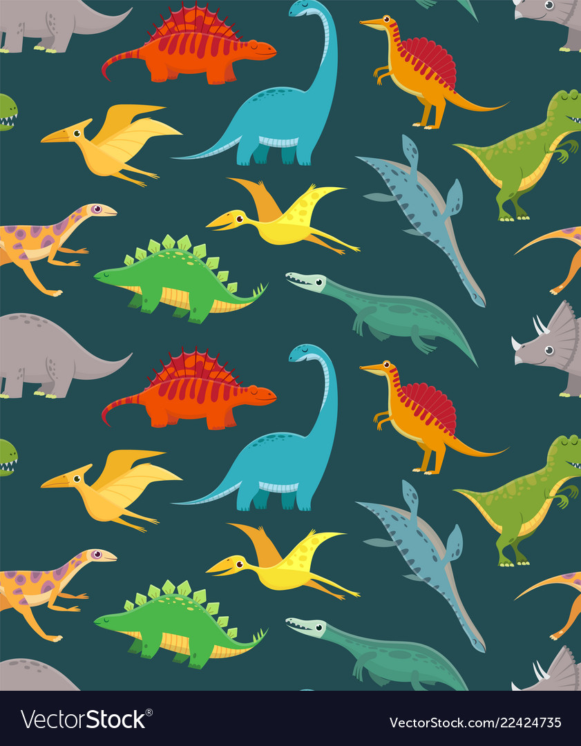 Dinosaur seamless pattern cute kids dinosaurs