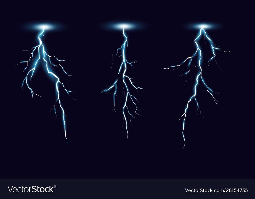Lightning set in realistic
