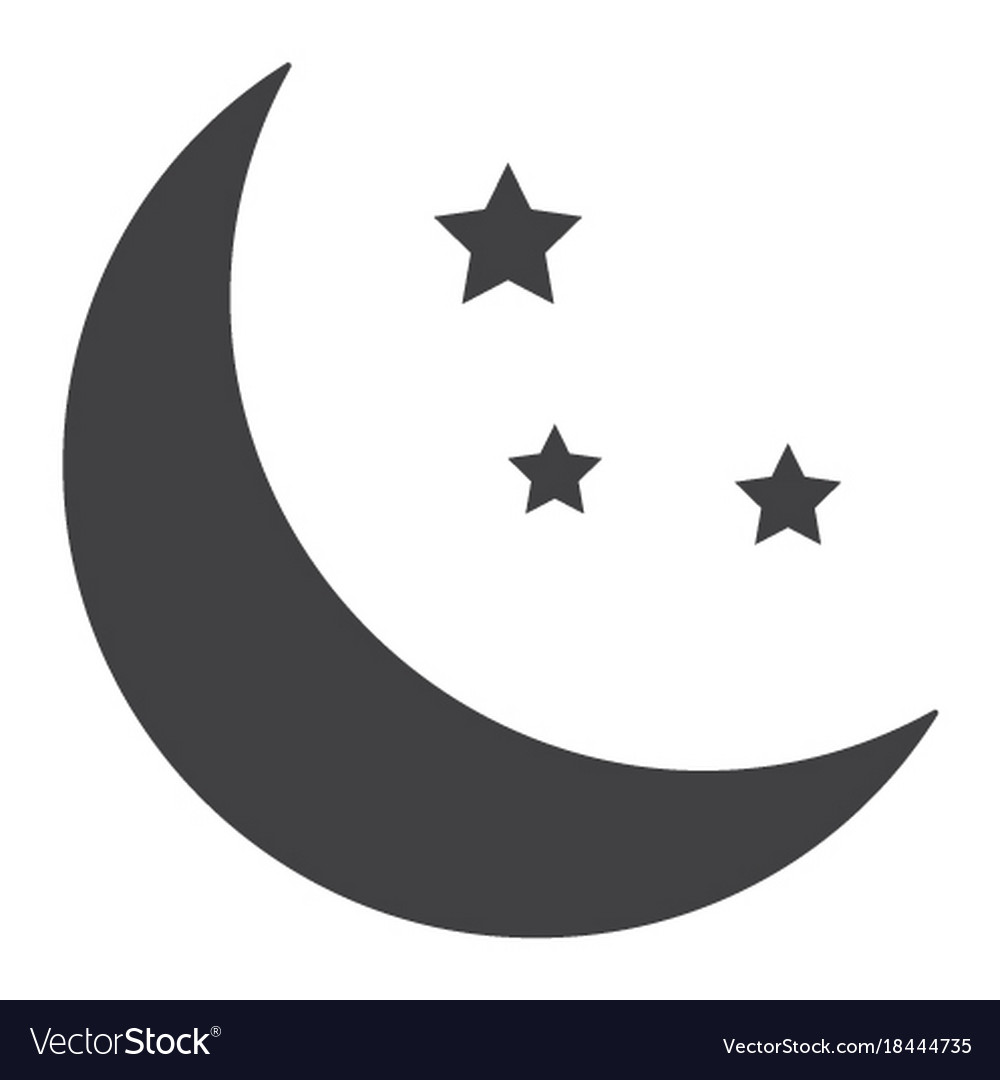 Sleep glyph icon web and mobile night sign