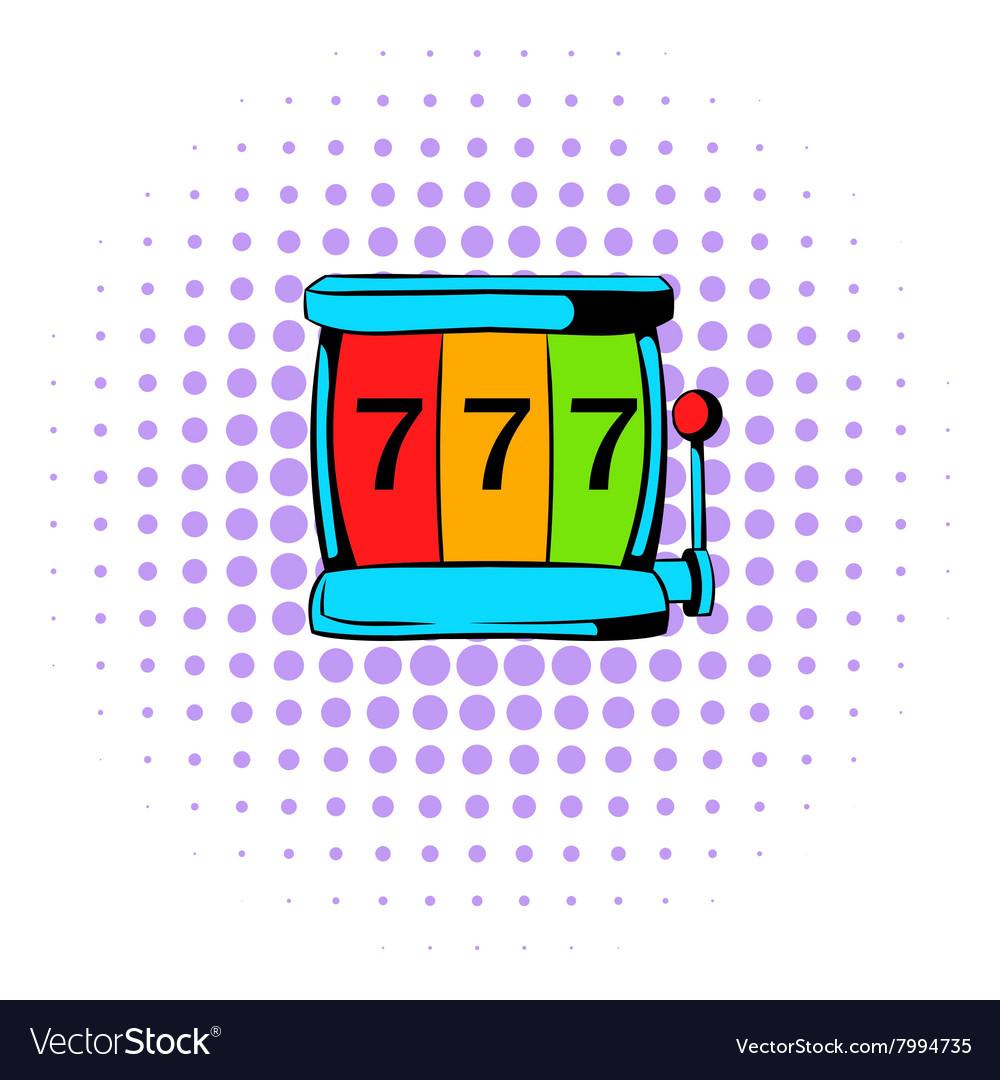 Slot machine jackpot icon comics style