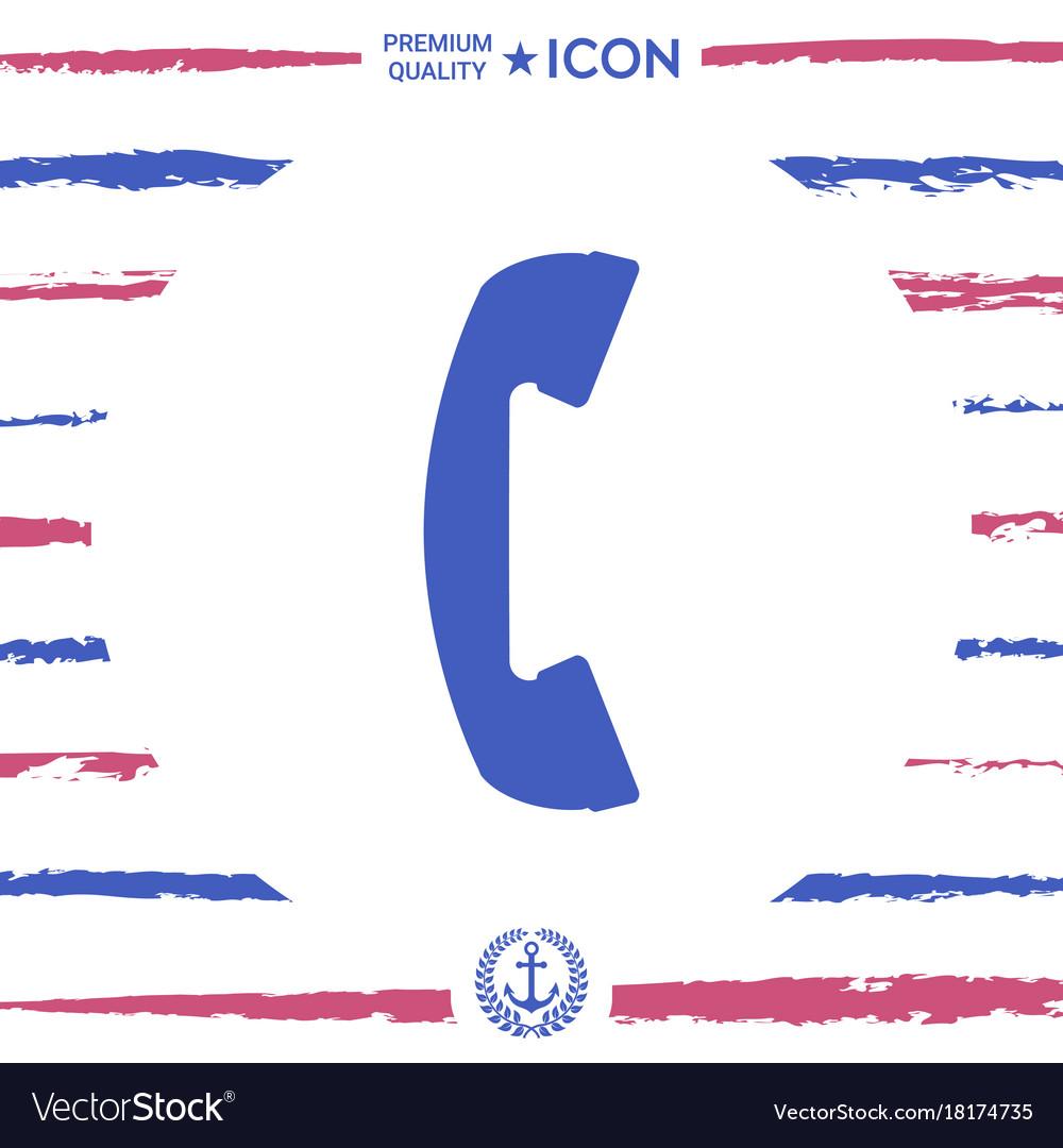 Telephone handset telephone receiver symbol vector image
