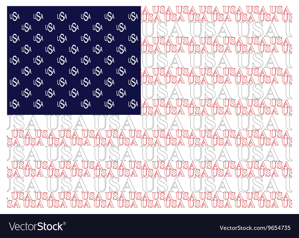 United States of America Text Flag