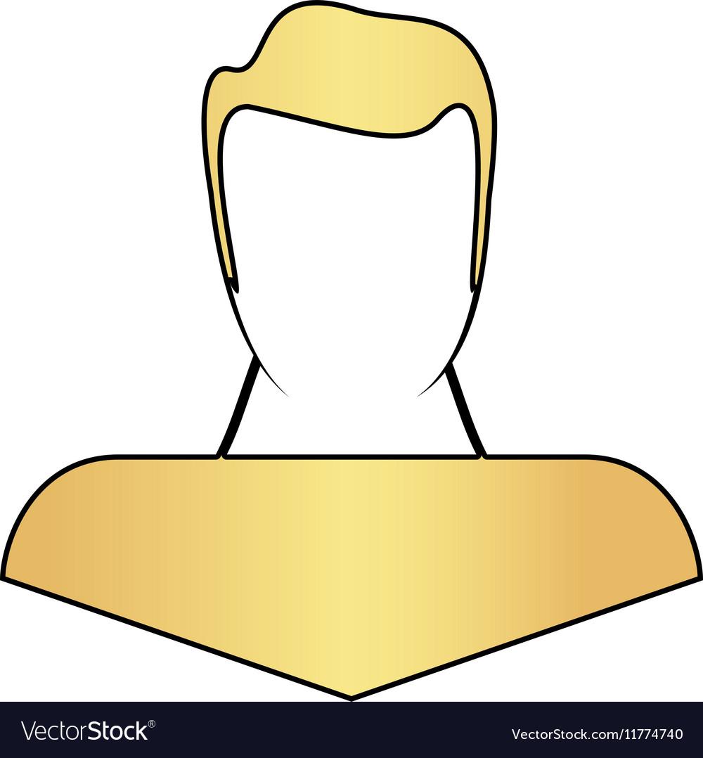 Boy head computer symbol vector image