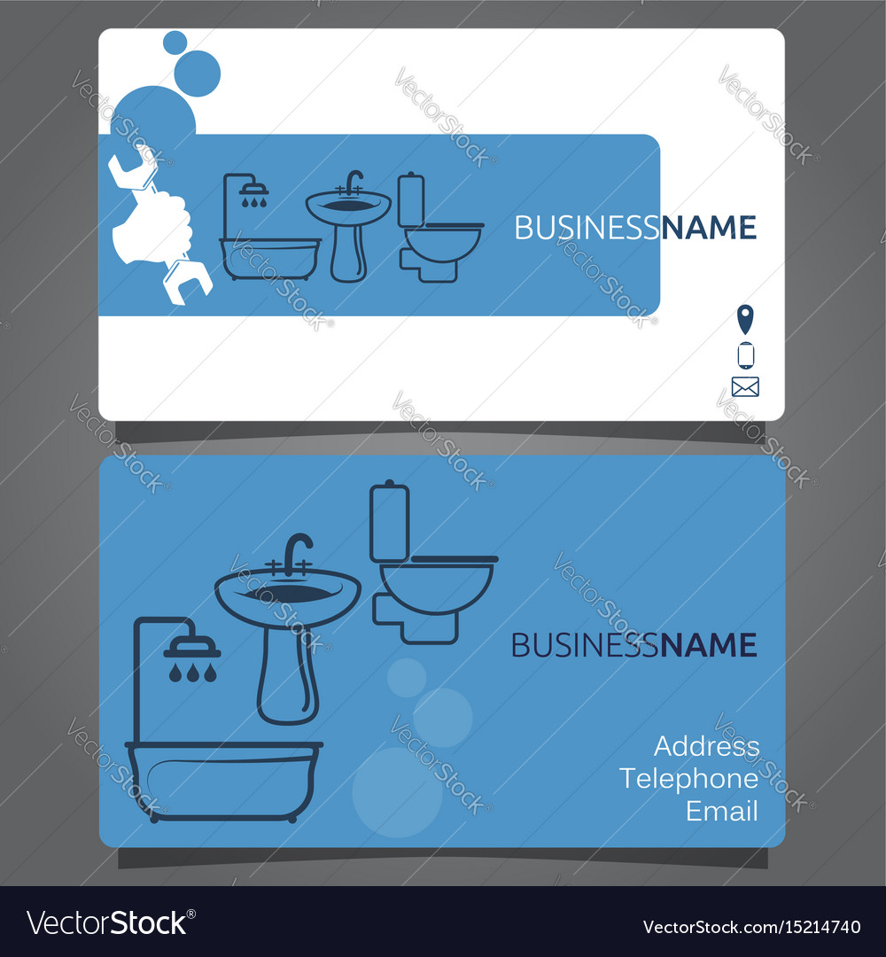 Business card for plumbing services royalty free vector business card for plumbing services vector image colourmoves