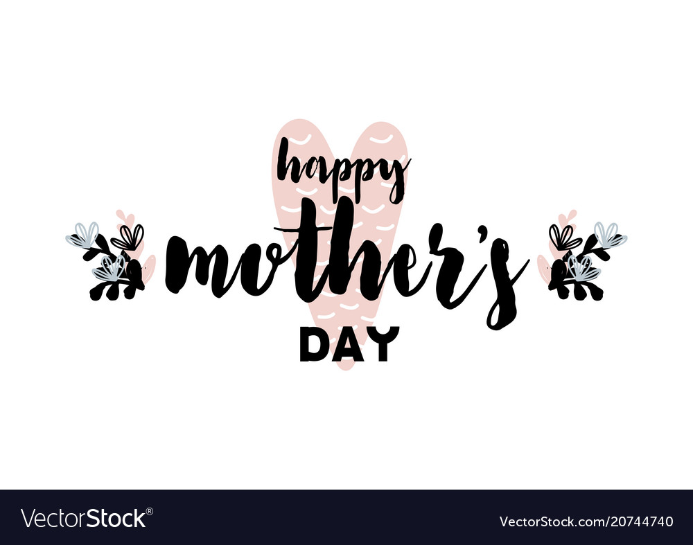 Card with lettering happy mothers day