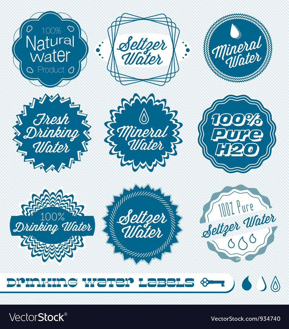 Drinking Water Labels