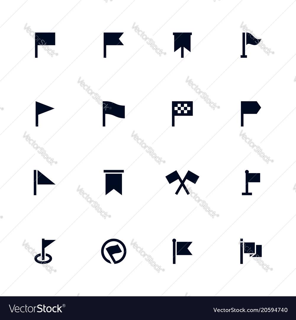 Flag icon set map location mark