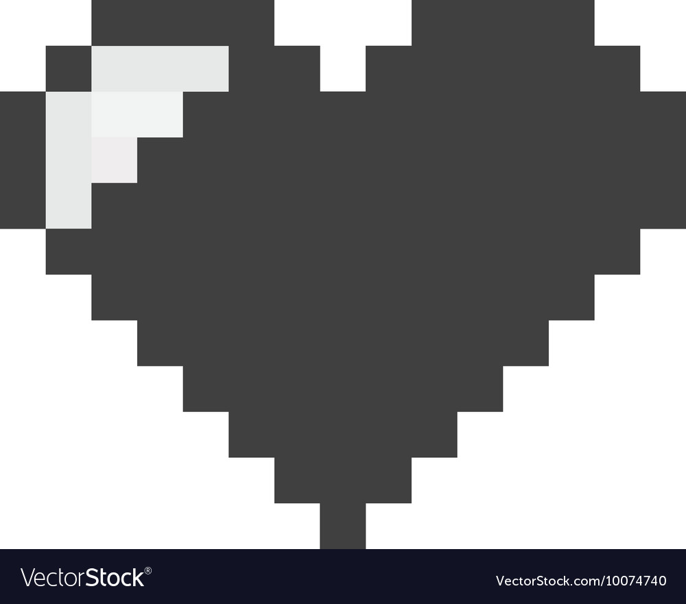 Heart pixel love icon