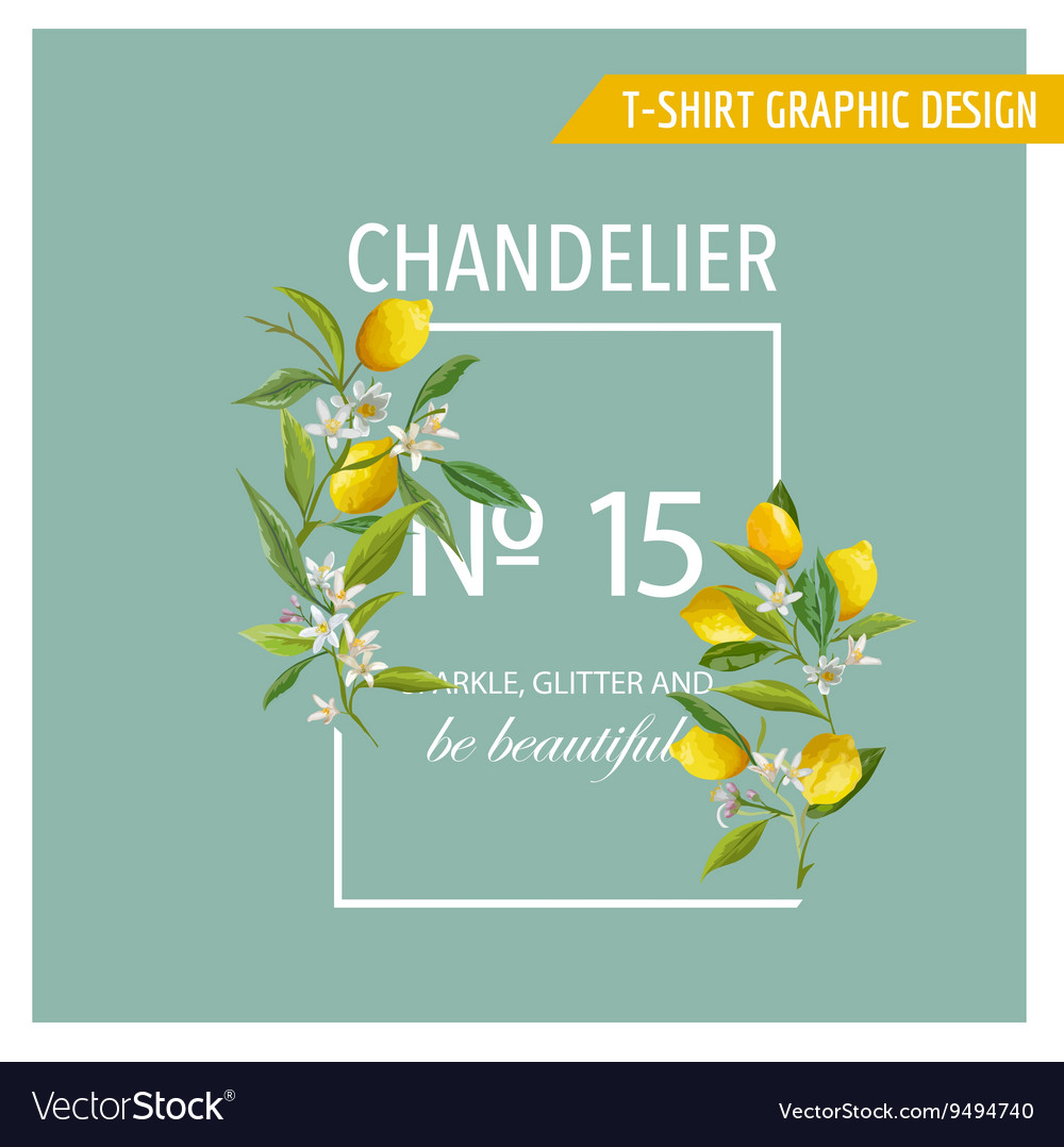 Lemon Fruits Graphic Design T-Shirt Fashion Prints