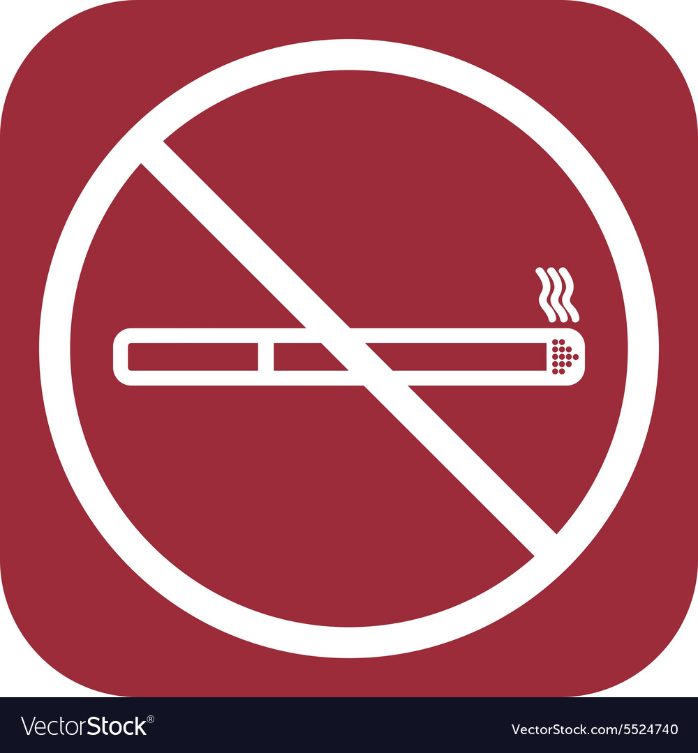 No Smoke Icon Stop Smoking Symbol Royalty Free Vector Image