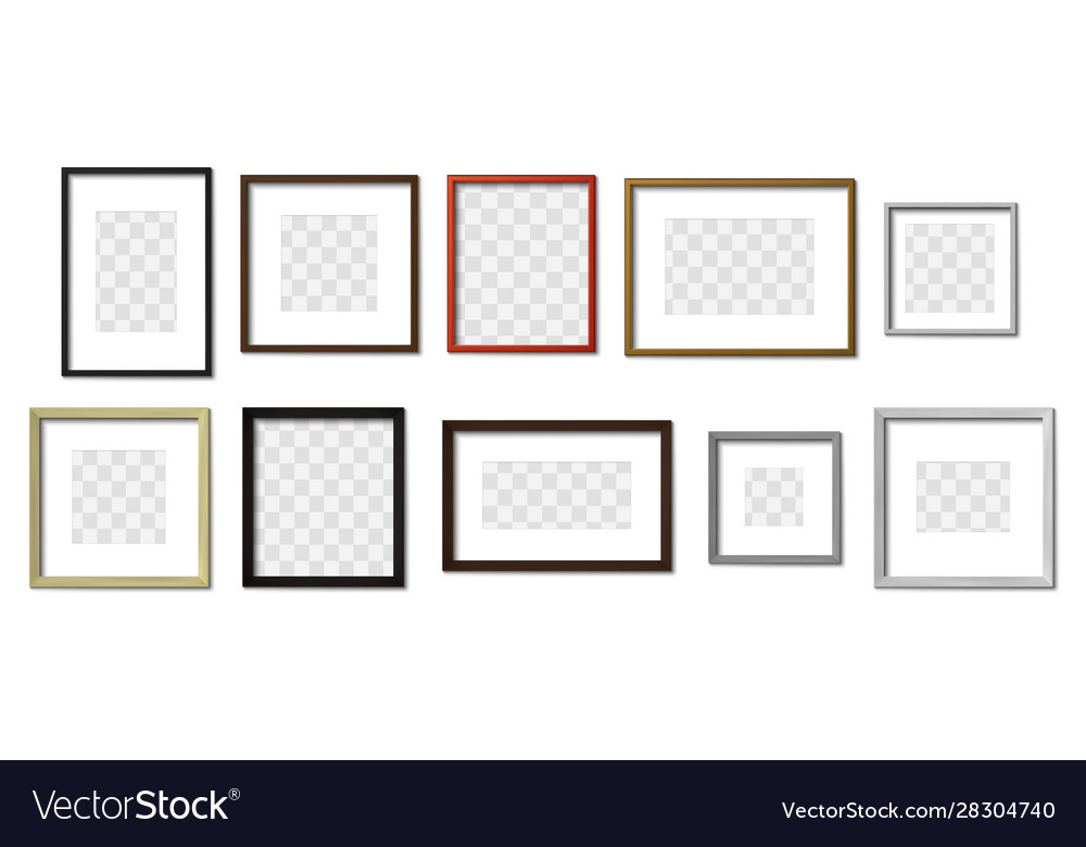 Realistic photo frame simple picture frames