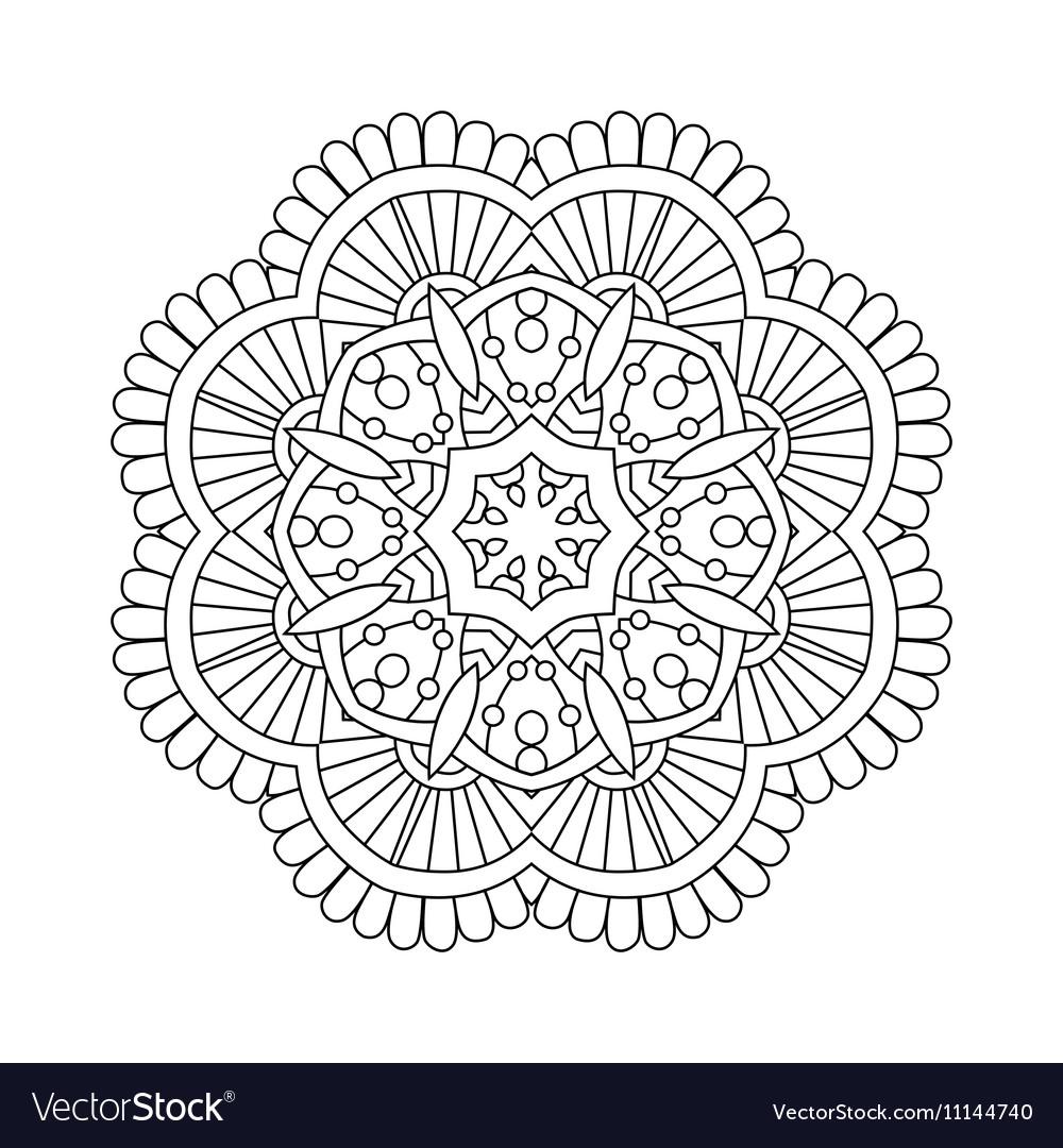 Simple floral mandala