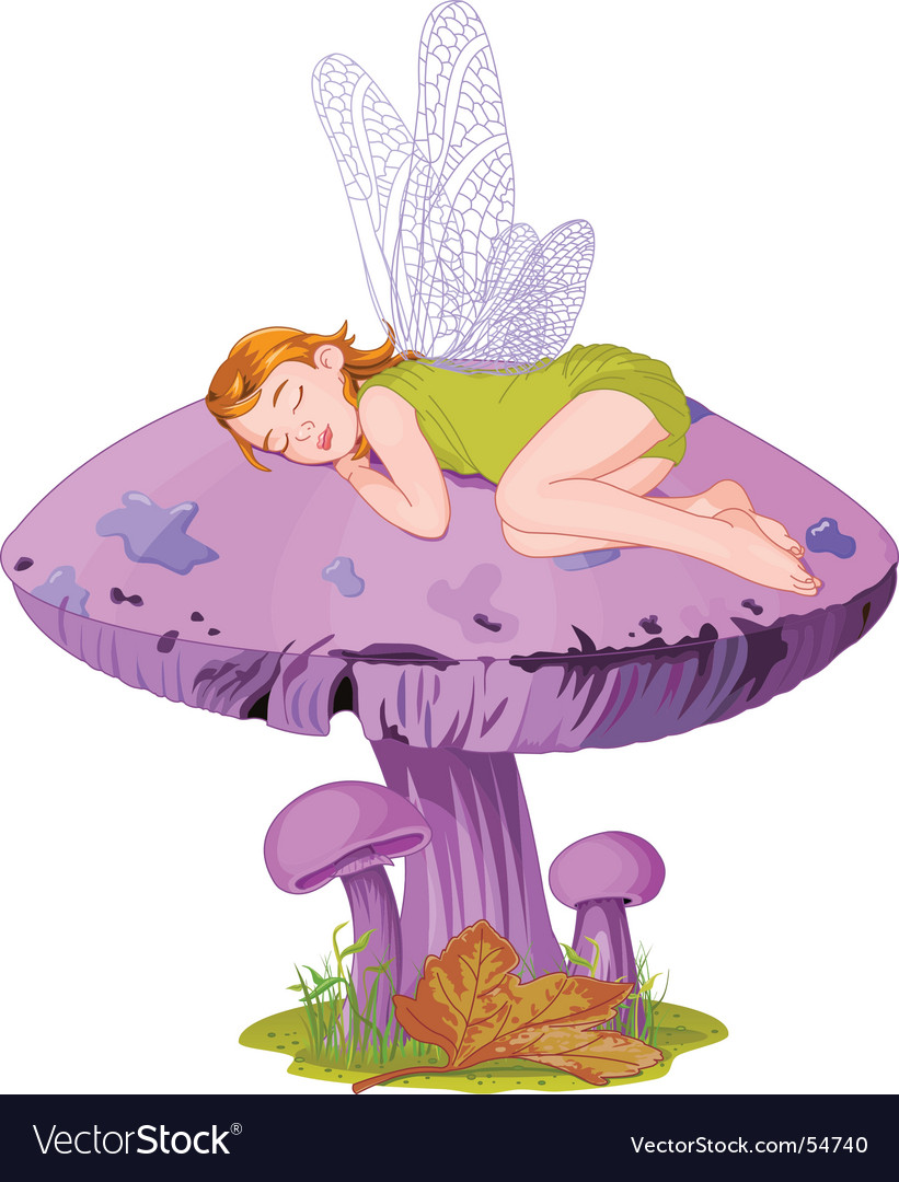 sleeping elf royalty free vector image vectorstock