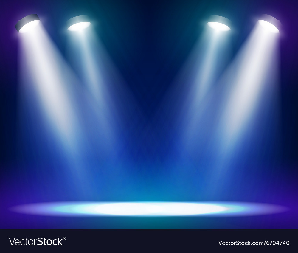 Theater Lights Background: Stage Lights Background Royalty Free Vector Image