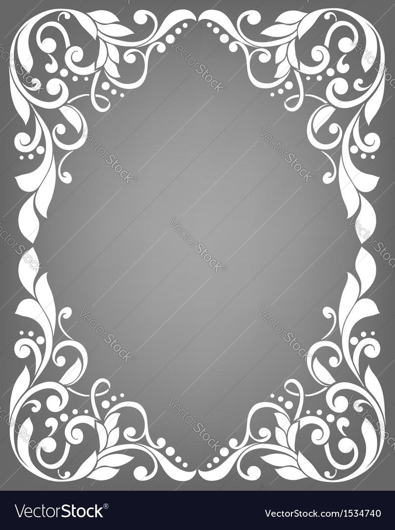 Vintage filigree frame Royalty Free Vector Image