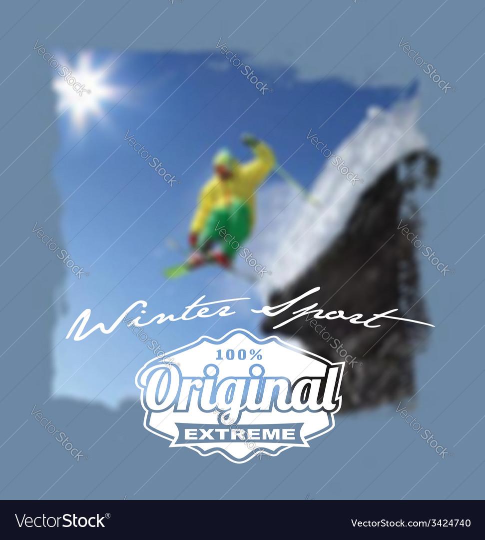 Winter sport original extreme