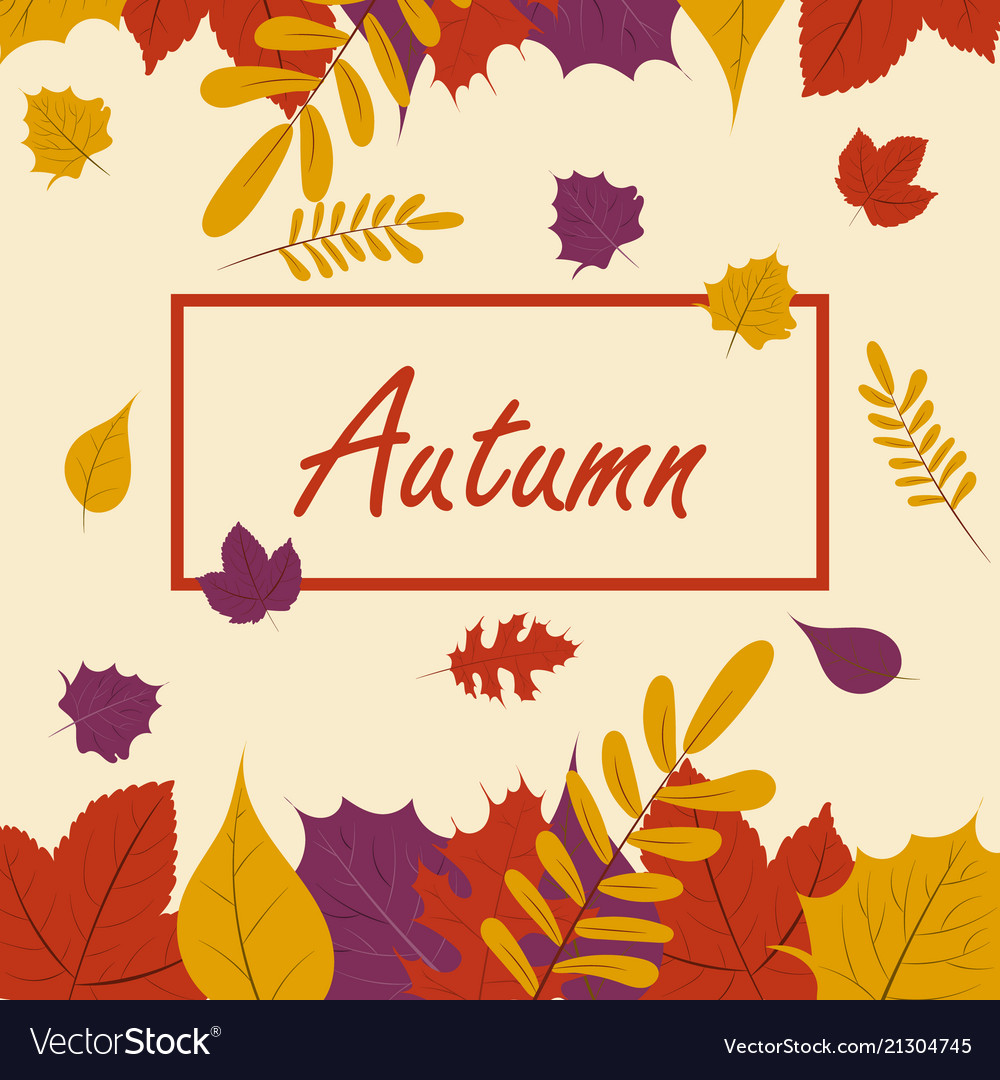 Autumn season fall leaf web banner or poster