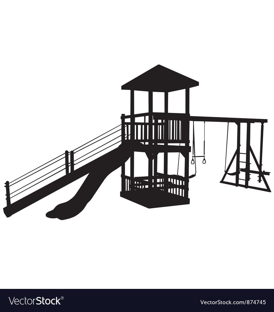 Childrens playground equipment vector image