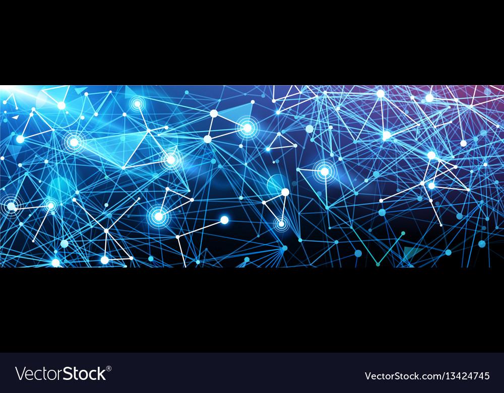 Global digital network vector image