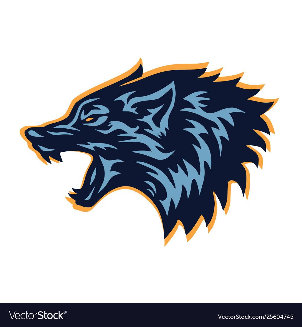 Mad wolf logo template design