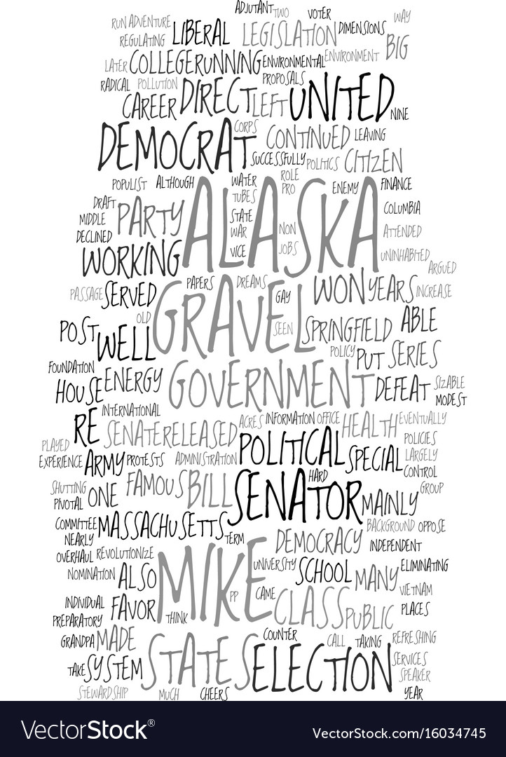 Mike gravel democrat text background word cloud