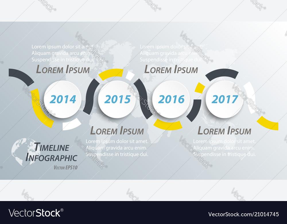 Timeline infographic for business presentation