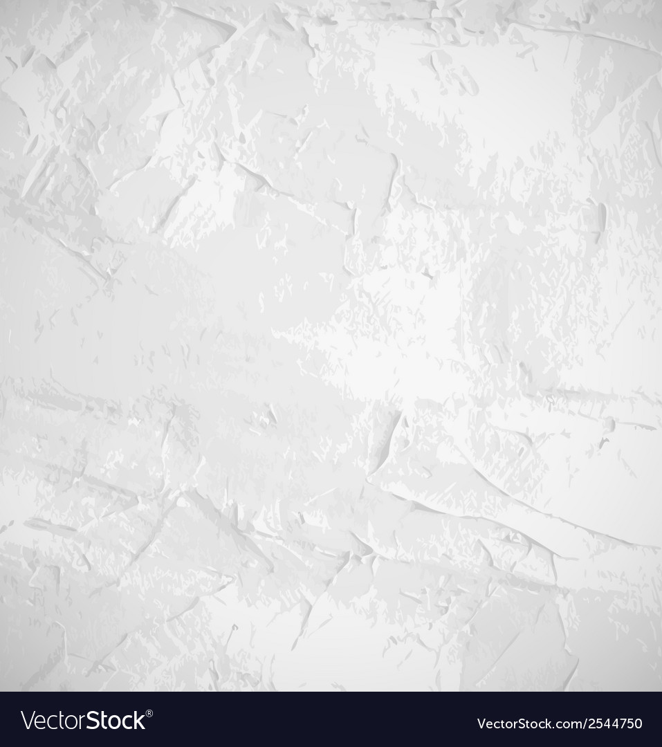 Abstract white old grunge wall background vector image