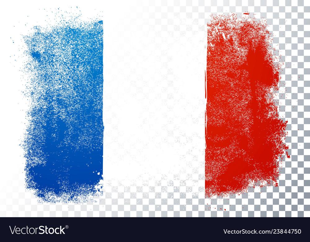 France flag icon in brushstroke texture