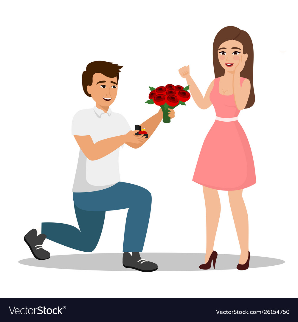 Man proposes a woman to