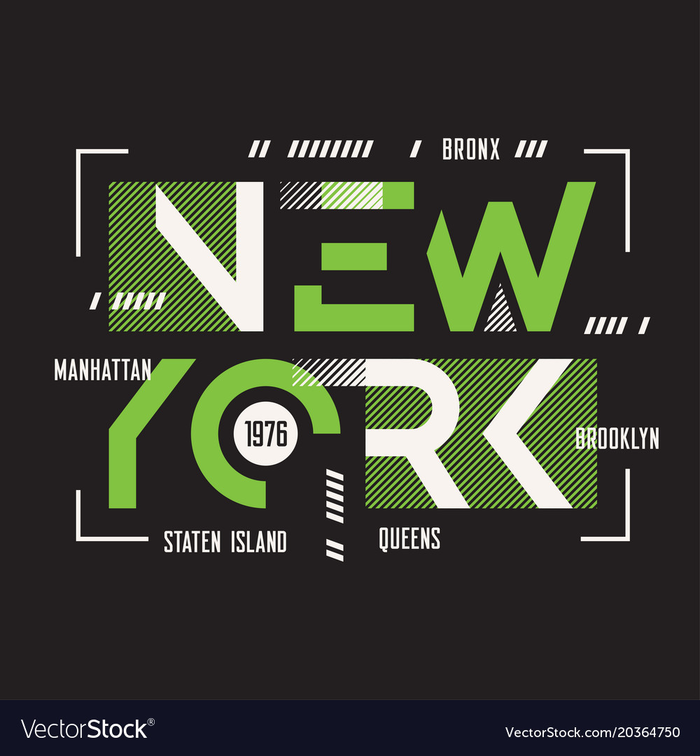 New york t-shirt and apparel geometric vector image