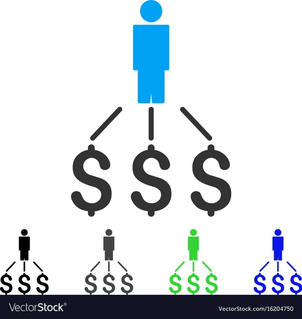 person expenses flat icon vector image