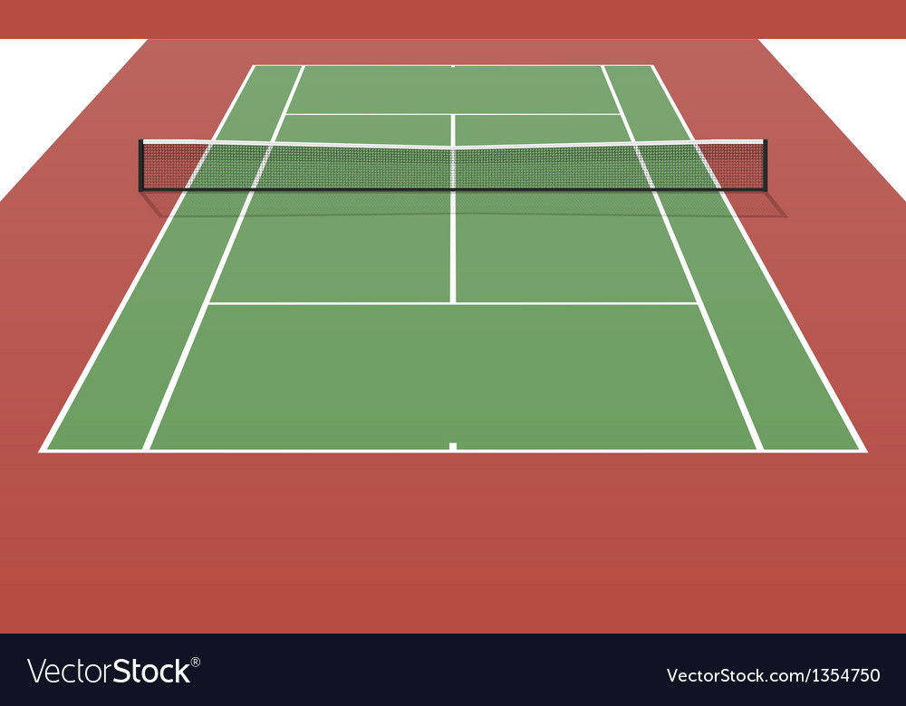 Tennis Court Royalty Free Vector Image Vectorstock