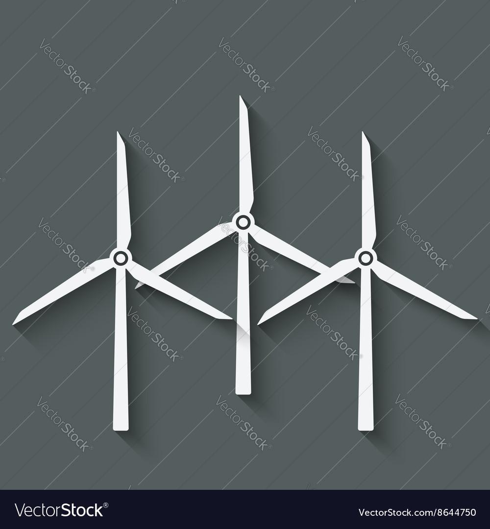 Wind Turbine Symbol Royalty Free Vector Image Vectorstock
