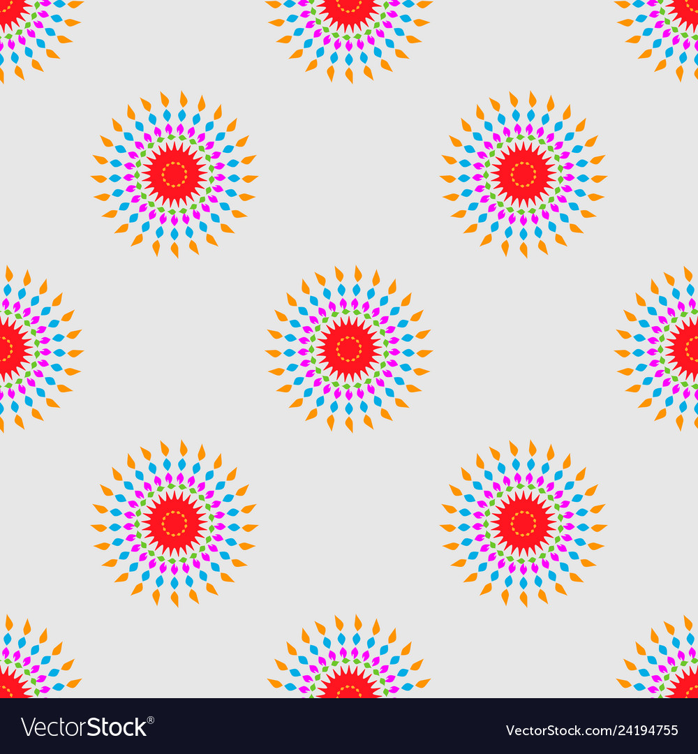 Abstract geometric seamless pattern ethnic