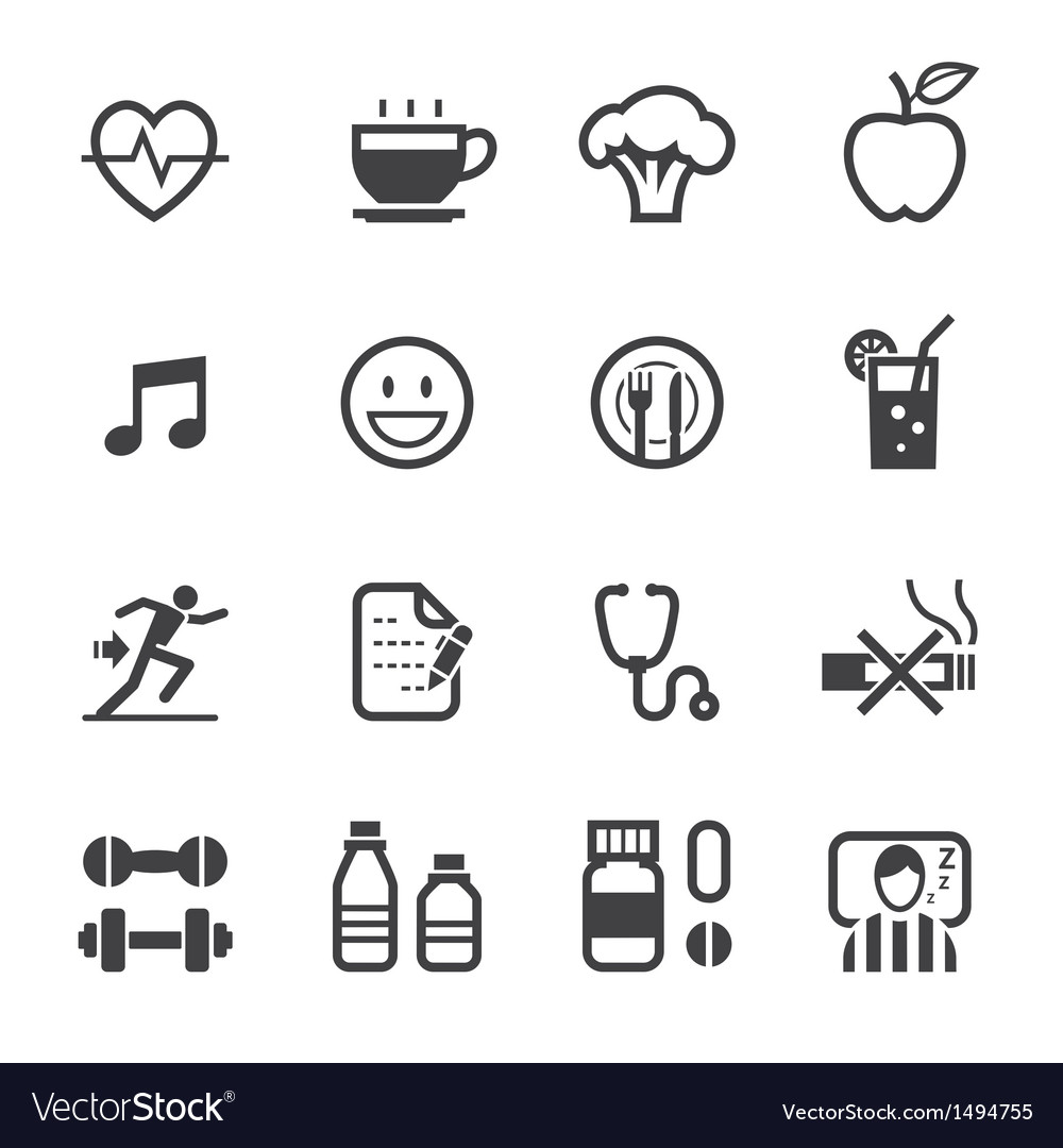 Wellness icon  Health and Wellness icons Royalty Free Vector Image