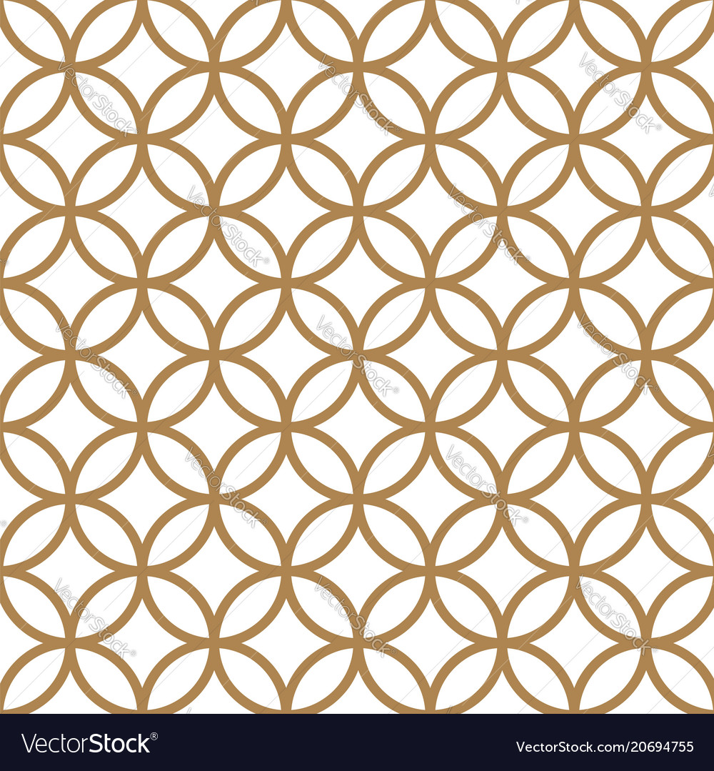 Japanese gold background and pattern geometric