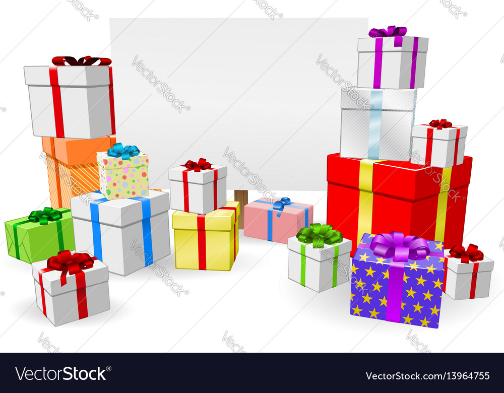 Presents and sign concept