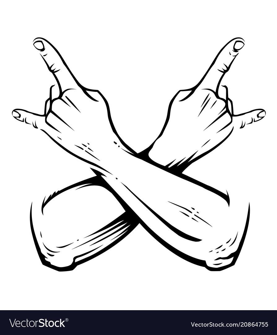 Rock crossed hands