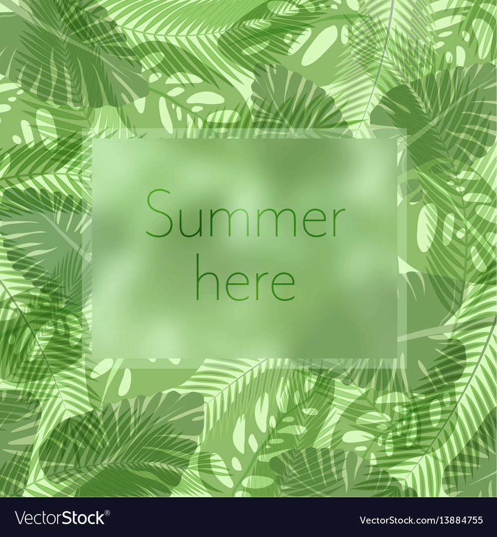 Summer here lettering in a frame on the