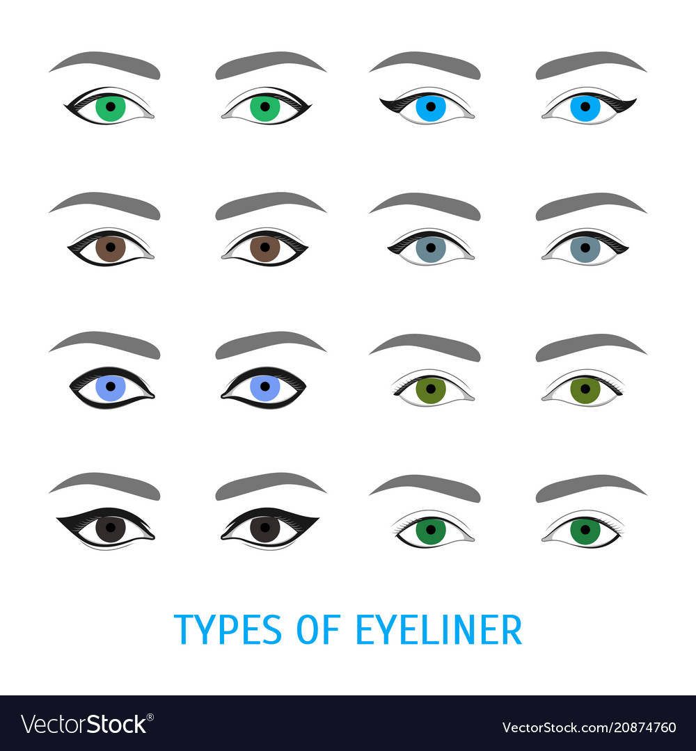 Eyeliner stylish make up thin line poster vector image