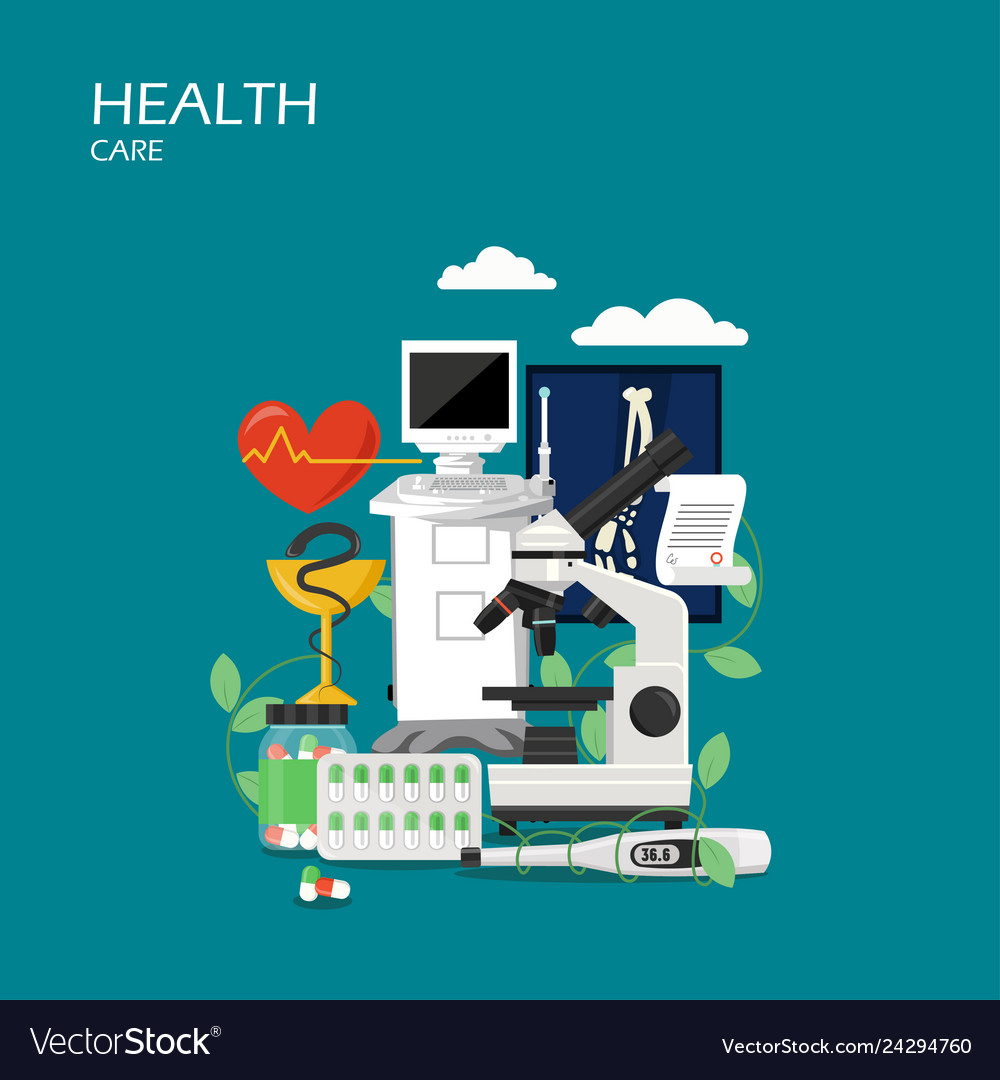 Health care flat style design