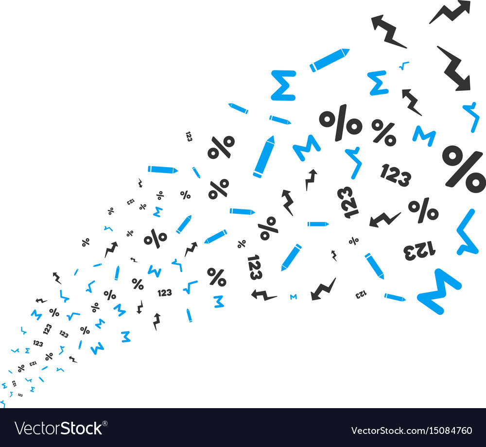 Math Symbols Source Stream Royalty Free Vector Image