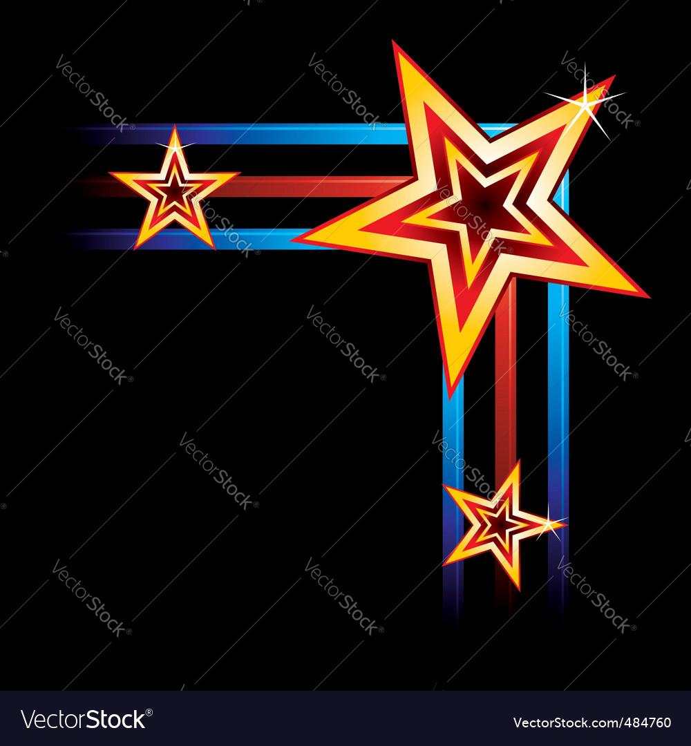 Neon corner vector image